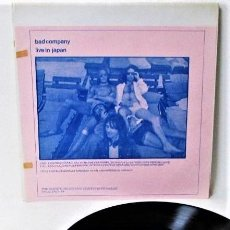 Discos de vinil: BAD COMPANY - LIVE IN JAPAN - LP ALBUM - 1975/1975 / GREAT AND RARE UNADULTERATED ORIGINAL. Lote 241200620