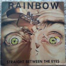 Disques de vinyle: RAINBOW. STRAIGHT BETWEEN THE EYES. SPAIN 1982.. Lote 241213180