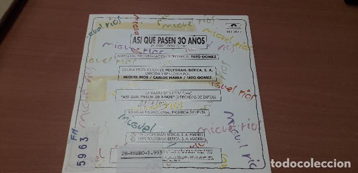 Discos de vinilo: 22-00059-MIGUEL RIOS - SINGLES ASI QUE PASEN 30 AÑOS - Foto 2 - 241216245