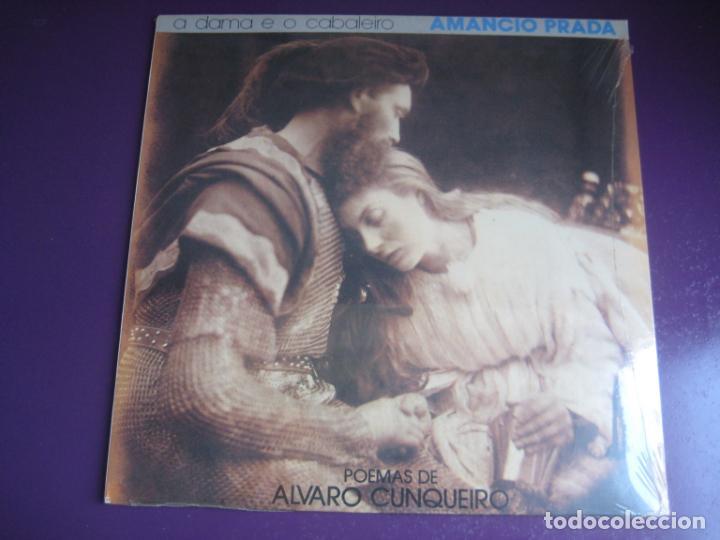AMANCIO PRADA - A DAMA E O CABALEIRO -POEMAS ALVARO CUNQUEIRO - LP ARIOLA - GALICIA FOLK POP (Música - Discos - LP Vinilo - Cantautores Españoles)