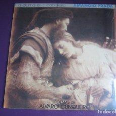 Discos de vinilo: AMANCIO PRADA - A DAMA E O CABALEIRO -POEMAS ALVARO CUNQUEIRO - LP ARIOLA - GALICIA FOLK POP. Lote 241227750