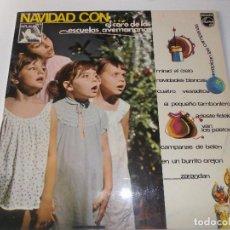 Discos de vinilo: NAVIDAD CON EL CORO DE LAS ESCUELAS AVEMARIANAS, VILLANCICOS. Lote 241265160
