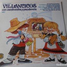Discos de vinilo: VILLANCICOS CON ZAMBOMBA Y PANDERETA, VOL 1, DOBLON 50.1453 - 1979. Lote 241272985