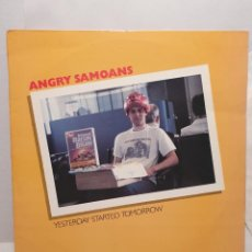 Discos de vinilo: ANGRY SAMOANS, YESTERDAY STARTED TOMORROW. LP 1990. TRIPLE XXX.. Lote 241274560