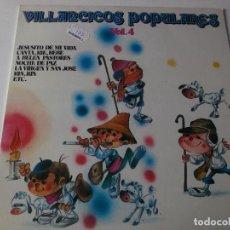 Discos de vinilo: VILLANCICOS CON ZAMBOMBA Y PANDERETA VOL.4, 1981,. Lote 241275285
