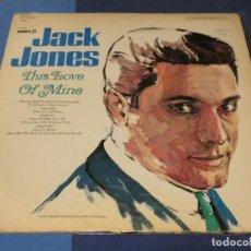 Discos de vinilo: EXPRO LP USA CIRCA 1966 JACK JONE THIS LOVE OF MINE USA 66 CORRECTO ROTO EN ZONA MUERTA VINILO. Lote 241283480