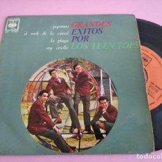 Discos de vinilo: LOS TEEN TOPS - POPOTITOS + ROCK DE LA CÁRCEL + LA PLAGA + REY CRIOLLO (CBS, 1963) - E. GUZMAN. Lote 241307655
