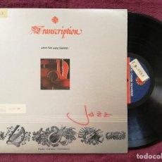 Discos de vinilo: JANE FAIR JAZZ QUINTET - TRANSCRIPTION (RCI) LP CANADA. Lote 241332985