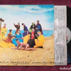Disques de vinyle: PEOR IMPOSSIBLE - PASSION (ARIOLA) LP ENCARTE. Lote 241336540
