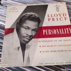 Discos de vinilo: LLOYD PRICE -PERSONALITY . EP EDICIÓN ORIGINAL DE 1959. BUEN ESTADO. Lote 241407415