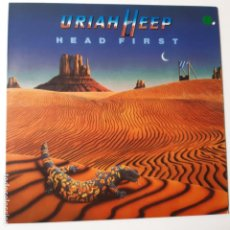 Discos de vinilo: URIAH HEEP - HEAD FIRST - SPAIN LP 1983 - VINILO EXC. ESTADO.. Lote 241408680