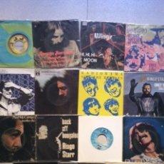 Disques de vinyle: LOTE 15 SINGLES DE THE BEATLES Y PAUL, JOHN, GEORGE Y RINGO EN BUEN ESTADO. Lote 241421650