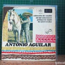 Discos de vinilo: ANTONIO AGUILAR - COLORCITO DE SANDIA / NO ME AMENACES / PRIMOR DE MATA / LAS JACARANDAS - 1968. Lote 241426820