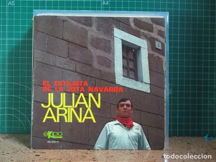 JULIAN ARINA - EL ESTILISTA DE LA JOTA NAVARRA - EKIPO 66.224-C - 1970 (Música - Discos de Vinilo - EPs - Étnicas y Músicas del Mundo)