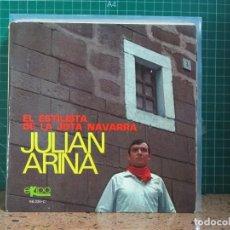 Discos de vinilo: JULIAN ARINA - EL ESTILISTA DE LA JOTA NAVARRA - EKIPO 66.224-C - 1970. Lote 241427525