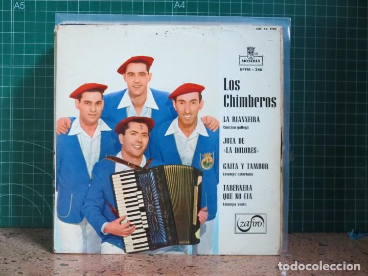 LOS CHIMBEROS - LA RIANXEIRA / JOTA DE LA DOLORES / GAITA Y TAMBOR / TABERNERA QUE NO FIA - 1966 (Música - Discos de Vinilo - EPs - Étnicas y Músicas del Mundo)