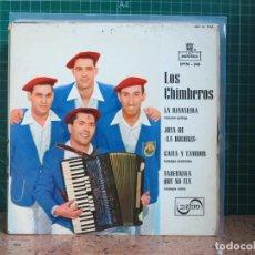 Discos de vinilo: LOS CHIMBEROS - LA RIANXEIRA / JOTA DE LA DOLORES / GAITA Y TAMBOR / TABERNERA QUE NO FIA - 1966. Lote 241428475