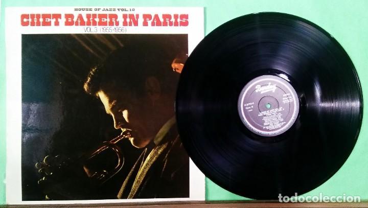 CHET BAKER IN PARIS VOL. 3 - HOUSE OF JAZZ VOL. 18 - LIMPIO,TRATADO CON ALCOHOL ISOPROPÍLICO (Música - Discos - LP Vinilo - Jazz, Jazz-Rock, Blues y R&B)