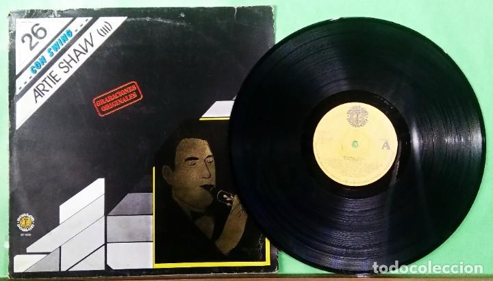 ARTIE SHAW 3.CON SWING 26 - LIMPIO,TRATADO CON ALCOHOL ISOPROPÍLICO (Música - Discos - LP Vinilo - Jazz, Jazz-Rock, Blues y R&B)