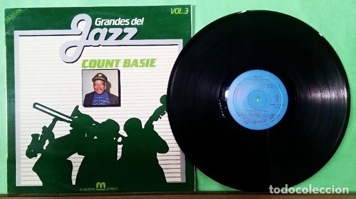 COUNT BASIE. GRANDES DEL JAZZ VOL. 3 - LIMPIO,TRATADO CON ALCOHOL ISOPROPÍLICO (Música - Discos - LP Vinilo - Jazz, Jazz-Rock, Blues y R&B)