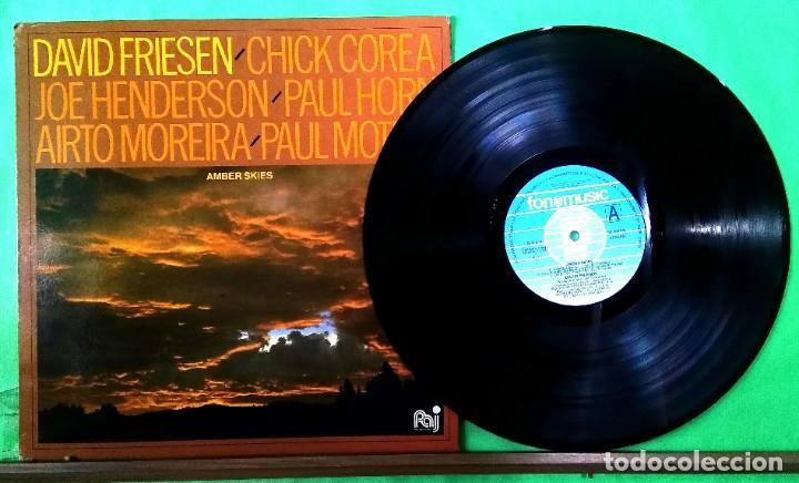 CHICK COREA Y OTROS. AMBER SKIES - LIMPIO,TRATADO CON ALCOHOL ISOPROPÍLICO (Música - Discos - LP Vinilo - Jazz, Jazz-Rock, Blues y R&B)
