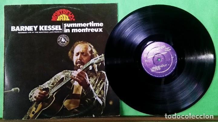 BARNEY KESSEL.SUMMERTIME IN MONTREUX - LIMPIO,TRATADO CON ALCOHOL ISOPROPÍLICO (Música - Discos - LP Vinilo - Jazz, Jazz-Rock, Blues y R&B)