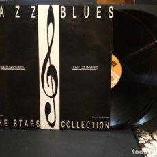 Discos de vinilo: JAZZ BLUES LOUIS ARMSTRONG JOHN LEE HOOKER DOBLE LP ESPAÑA 1985 PEPETO. Lote 241489430