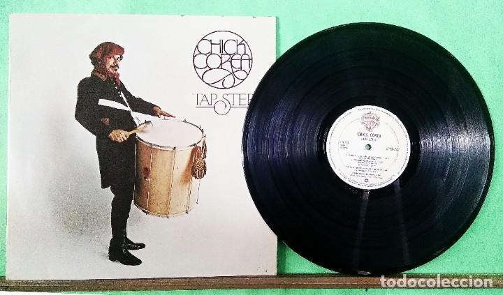 CHICK COREA .TAP STEP 1980 1º EDICION - LIMPIO,TRATADO CON ALCOHOL ISOPROPÍLICO (Música - Discos - LP Vinilo - Jazz, Jazz-Rock, Blues y R&B)