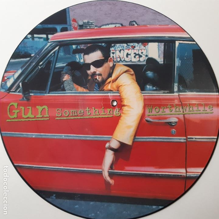 Discos de vinilo: GUN - SOMETHING WORTHWHILE - EUROPE MAXI SINGLE 1995 + 4 POSTALES- COMO NUEVO. - Foto 2 - 241492595