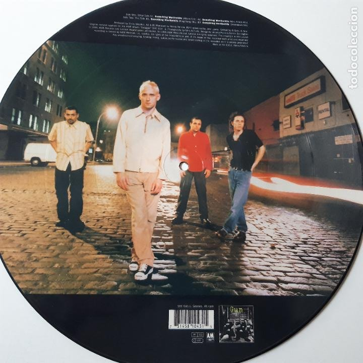 Discos de vinilo: GUN - SOMETHING WORTHWHILE - EUROPE MAXI SINGLE 1995 + 4 POSTALES- COMO NUEVO. - Foto 3 - 241492595