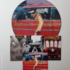 Discos de vinilo: GUN - SOMETHING WORTHWHILE - EUROPE MAXI SINGLE 1995 + 4 POSTALES- COMO NUEVO.. Lote 241492595