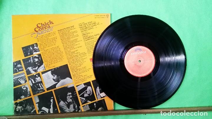Discos de vinilo: CHICK COREA .FRIENDS 1º EDICION - LIMPIO,TRATADO CON ALCOHOL ISOPROPÍLICO - Foto 2 - 241492810