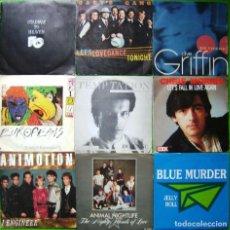 Discos de vinilo: LOTE 9 SINGLES: ANIMAL NIGHTLIFE, BLUE MURDER, CHRIS MORRIS, CLIVE GRIFFIN, EUROPEANS,GARY'S GANG,FC. Lote 241508470