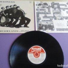 Discos de vinilo: JOYA LP. MADNESS UN PASO ADELANTE ( TXS 3163 SEEZ 17 STIFF )SKA EDICION ORIGINAL SPAIN.1980+ENCARTE. Lote 241522670
