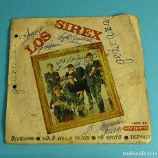 Discos de vinilo: LOS SIREX. SOLO EN LA PLAYA / REPRISE / YO GRITO / OLVÍDAME. VERGARA 1968. Lote 241525190