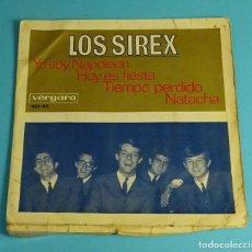 Discos de vinilo: LOS SIREX. YO SOY NAPOLEÓN / HOY ES FIESTA / NATACHA / TIEMPO PERDIDO. VERGARA 1966. Lote 241525810