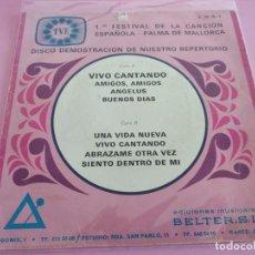 Discos de vinilo: DISCO DEMOSTRACION BELTER - EUROVISION 1969 - FESTIVAL DE LA CANCION DE MALLORCA. Lote 241534870