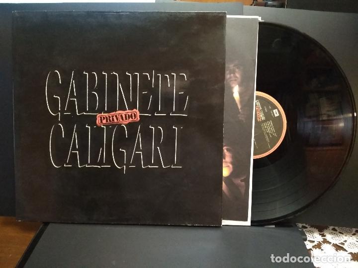 GABINETE CALIGARI - PRIVADO - EMI 1989 ,GATEFOLD LP SPAIN PEPETO (Música - Discos - LP Vinilo - Grupos Españoles de los 70 y 80)