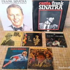 Discos de vinilo: LOTE 7 VINILOS DE FRANK SINATRA ORIGINALES DISCOS EN MUY BUEN ESTADO. Lote 241544195