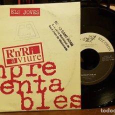 Discos de vinilo: ELS JOVES - R´N´RI A VIURE - IMPRESENTABLES - DISCO PROMO IMPRESO POR UNA SOLA CARA. Lote 241548405