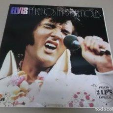 Discos de vinilo: ELVIS PRESLEY (LP) PARA LOS FANS ESPAÑOLES AÑO 1976 – DOBLE DISCO CON PORTADA ABIERTA. Lote 241550790