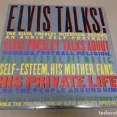 Discos de vinilo: ELVIS PRESLEY (LP) ELVIS TALKS AÑO 1987 – EDICION U.S.A.. Lote 241551425