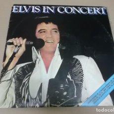 Discos de vinilo: ELVIS PRESLEY (LP) IN CONCERT AÑO 1978 – DOBLE DISCO CON PORTADA ABIERTA. Lote 241551895