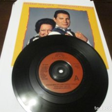 Discos de vinilo: FREDDIE MERCURY - SINGLE - HOW CAN I GO ON - MONTSERRAT CABALLE - QUEEN - EDICION UK. Lote 241629045