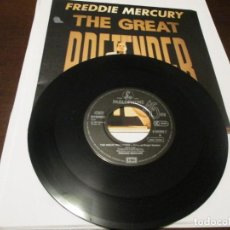 Discos de vinilo: FREDDIE MERCURY - SINGLE - THE GREAT PRETENDER - QUEEN. Lote 241629250
