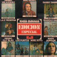 Disques de vinyle: VOCES FAMOSASA - EDICION ESPECIAL / NINO BRAVO DANNY DANIEL ..../ LP POLYDOR 1976 RF-9146. Lote 241654310