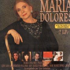 Discos de vinilo: MARIA DOLORES PRADERAS - CANTA CON LOS SABANDEÑOS, JOSE CARRERAS.../ DOBLE LP DE 1989 RF-9159. Lote 241659550