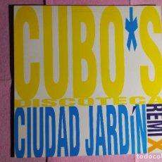 """Discos de vinilo: 12"""" CIUDAD JARDIN – CUBO*S DISCOTECA - HISPAVOX 052 8760586 - SPAIN PRESS - MAXI (EX+/EX+). Lote 241666705"""