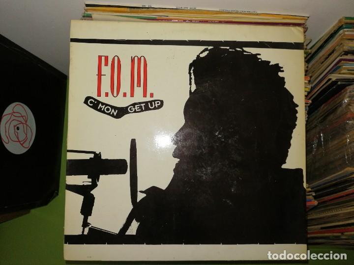 DISCO VINILO. F.O.M. C'MON GET UP (Música - Discos de Vinilo - Maxi Singles - Techno, Trance y House)