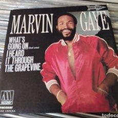 Discos de vinilo: MARVIN GAYE -WHAT'S GOING ON = QUÉ PASA / I HEARD IT THROUGH THE GRAPEVINE. PERFECTO ESTADO. Lote 241682555